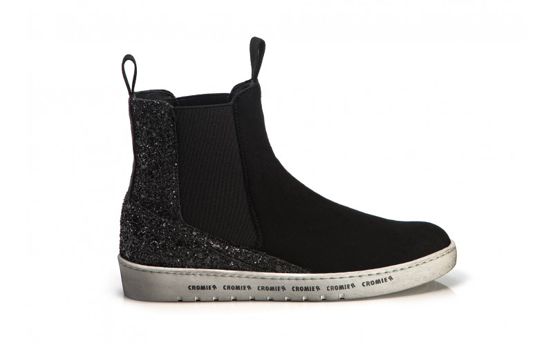 ALPHA Boot Black Glitter