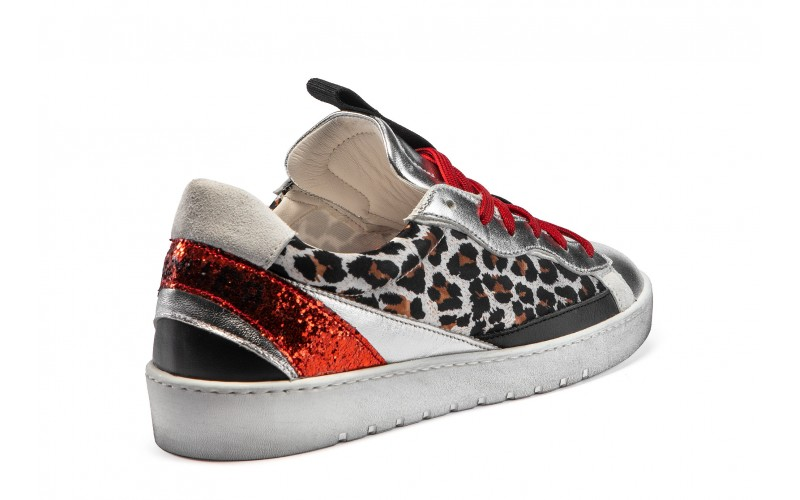 Sneaker donna - ALPHA Red Leopard