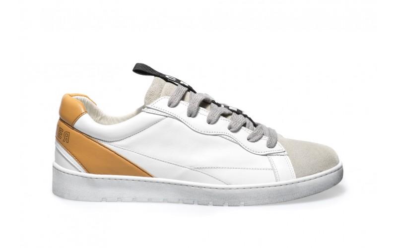 Sneaker Uomo - ALPHA Caramel White