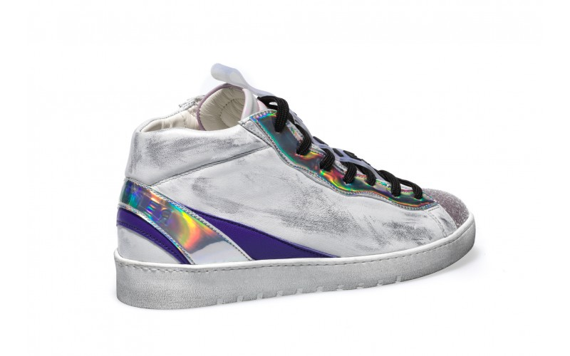 Sneaker Donna - ALPHA Mid Holo Lilac