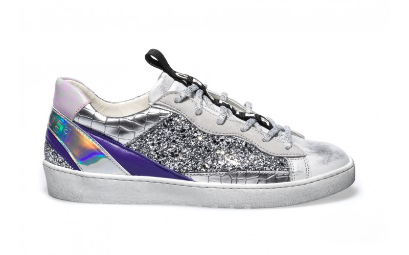 Sneaker Donna - ALPHA Glitter Silver